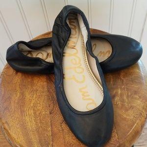 Sam Edelman Black Leather Fritz Ballet Flats